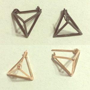 Jewelry - Wonderful geometry triangle pyramid earrings